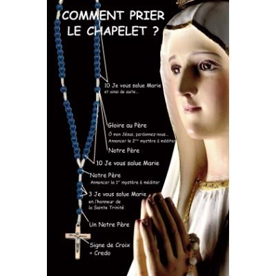 Carte prière : Comment prier le chapelet ?