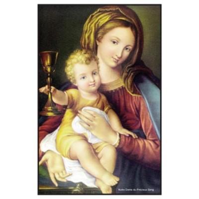 Carte prière : Notre Dame du Précieux Sang