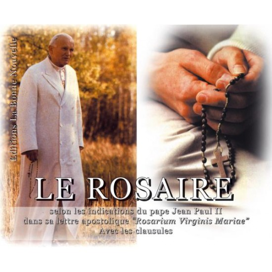 Livret : Le rosaire avec saint Jean-Paul II