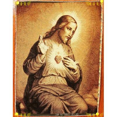 Tapisserie : Sacré-Coeur de Jésus (gravure)