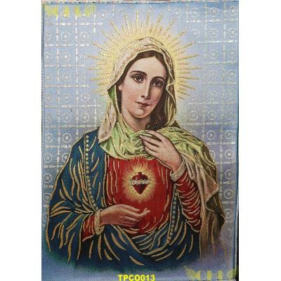 Tapisserie : Sacré Coeur de Marie en fil d'or (Version 2)