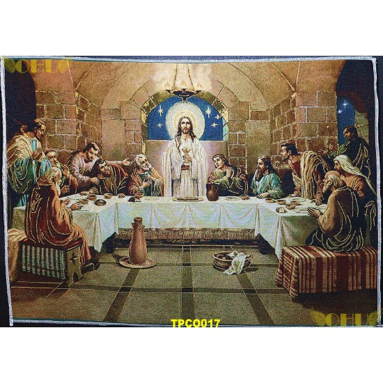 Tapisserie : La Sainte Cène en fil d'or