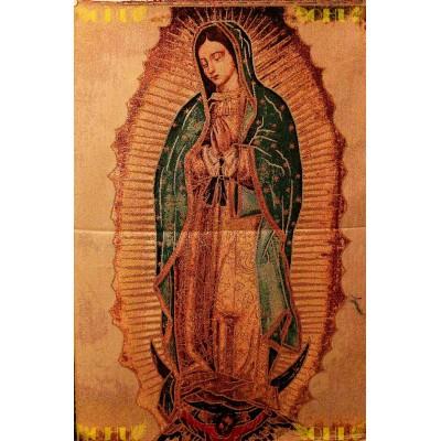 Tapisserie : Notre Dame de Guadalupe en fil d'or