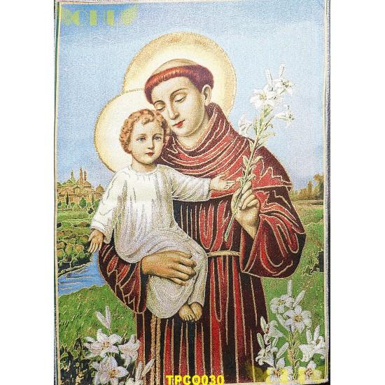 Tapisserie : Saint Antoine en fil d'or