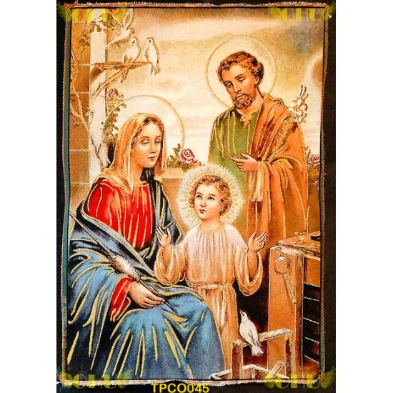 Tapisserie : Sainte Famille en Fil d'or
