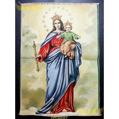 Tapisserie : Marie avec enfant Jésus