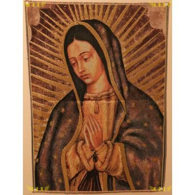 Tapisserie : Notre Dame de Guadalupe en fil d'or (version 2)